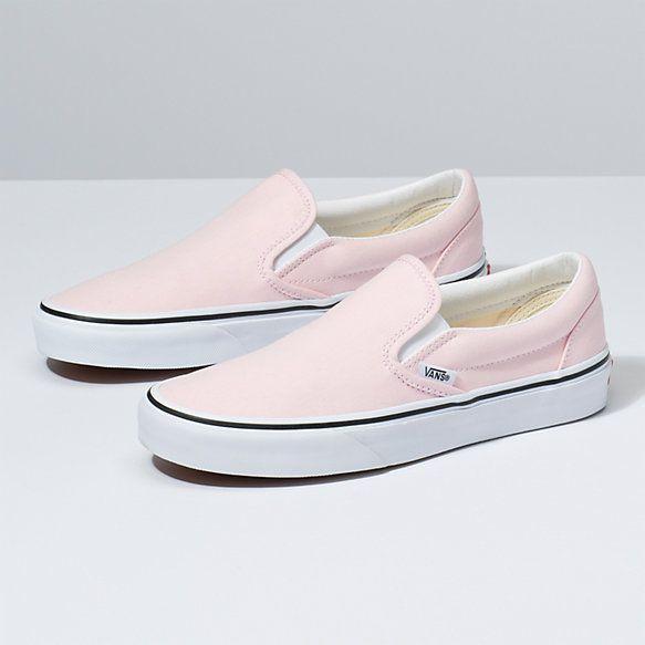Slip On | Shop Classic Shoes | Girls shoes, Slip on, Pink vans