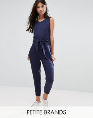d2f359be3b0 New Look Petite Tie Front Jumpsuit