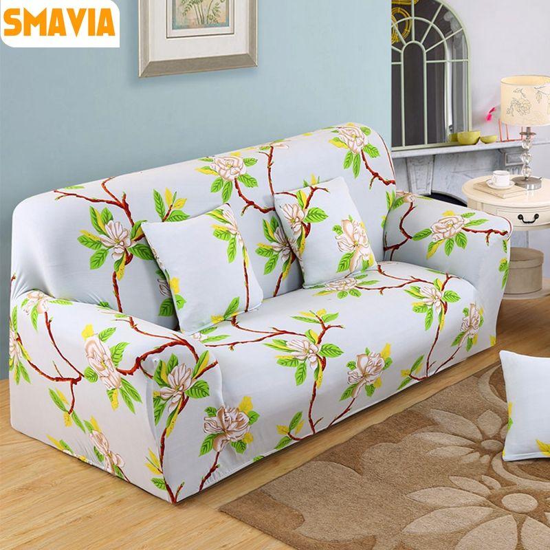 Smavia Non Slip Recliner Sofa Cover Polyester Stretch Elasticity Sofa Towel Single Chair Love Seat L Shaped Furniture Slipcove Sofa Covers Sofa Furniture Slipcovers