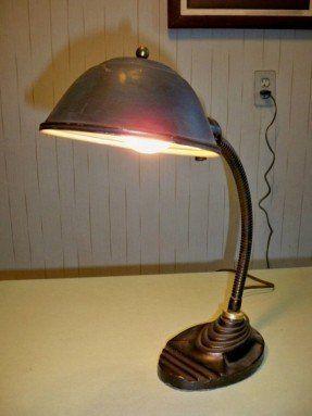 Vintage Eagle Gooseneck Art Deco Desk Lamp