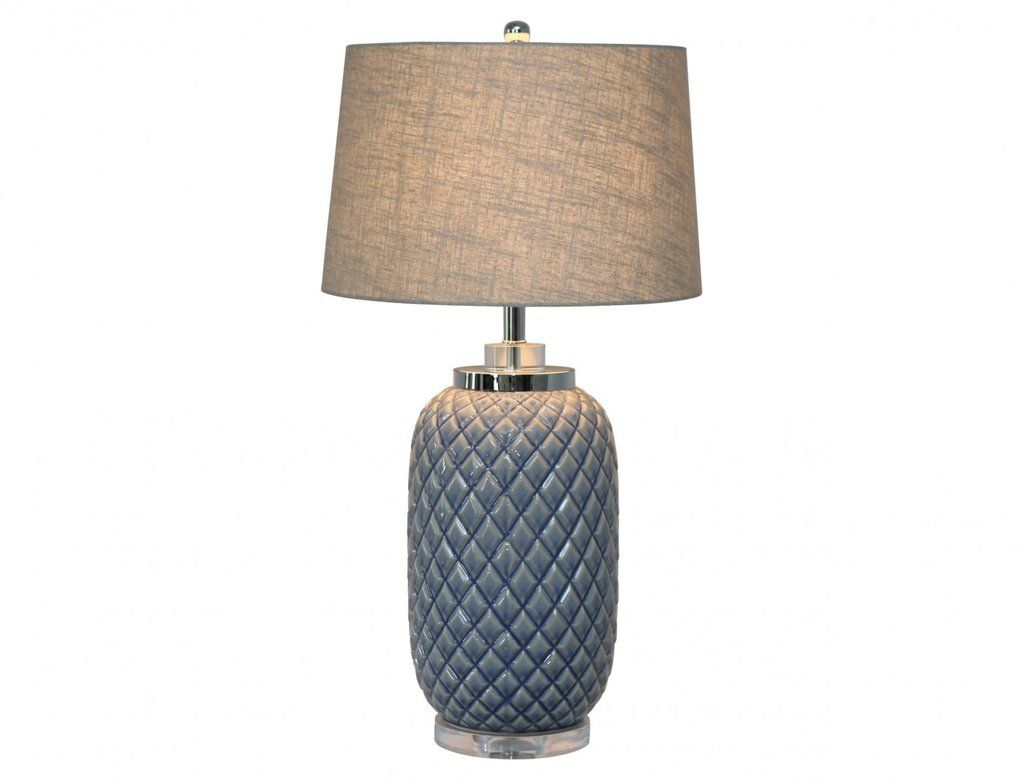 Blue Pineapple Lamp With Shade Lamp Pineapple Lamp Table Lamp