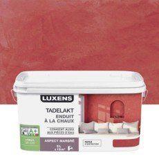 Enduit décoratif, Tadelakt LUXENS, rouge rouge 3, 5 l en ...