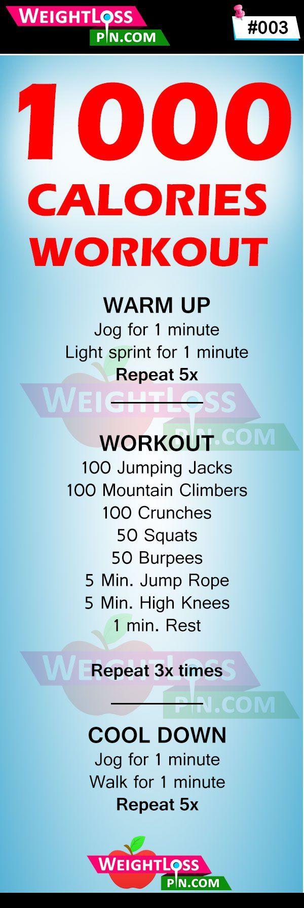 1000 Calories Workout Challenge at Home | 1000 kalorien ...