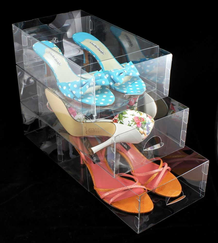 Clear shoe box by shoebby women size shoes 15 boxes