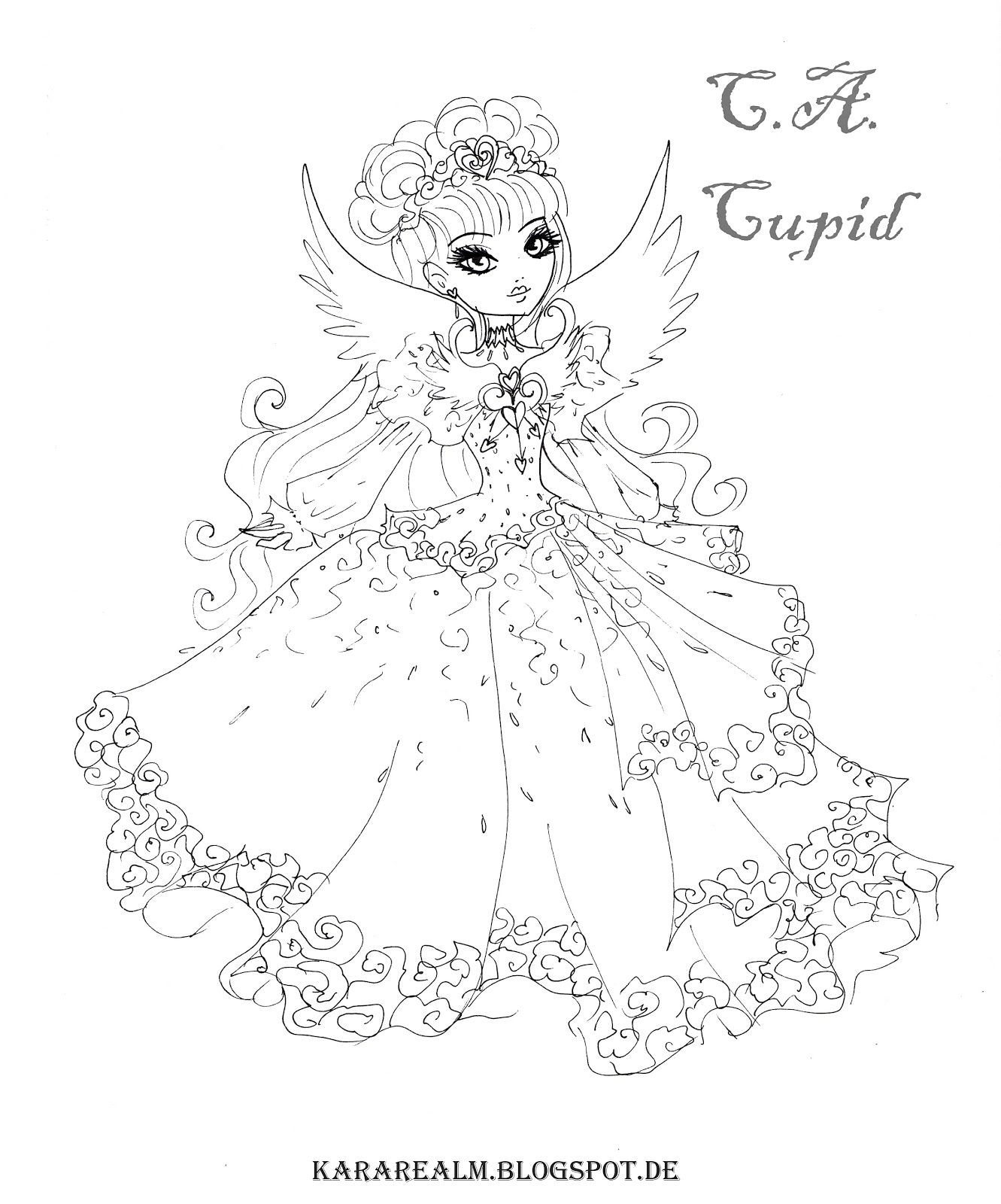 Coloring pages gone wrong - Kara Realm Ever After High Coloring Pages