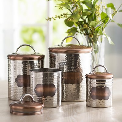 Laurel Foundry Modern Farmhouse 4 Piece Kitchen Canister
