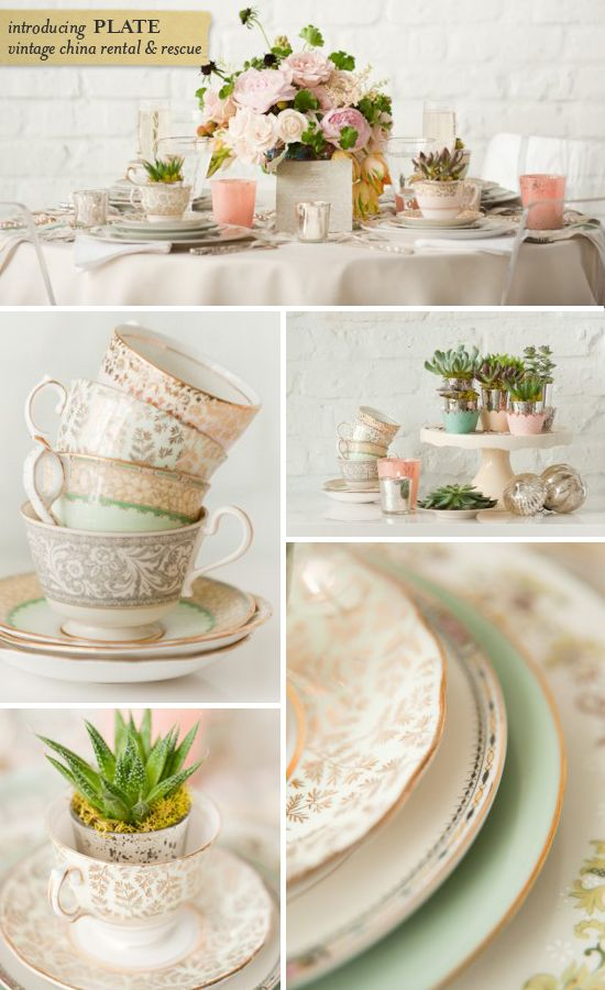 Vintage Plate Rental | Tablescapes | Pinterest | Vintage plates vintage China and China patterns  sc 1 st  Pinterest & Vintage Plate Rental | Tablescapes | Pinterest | Vintage plates ...