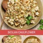 Sicilian Cauliflower (quick + easy!) | wellseasonedstudio -  Sicilian Cauliflower (quick + easy!) | wellseasonedstudio  - #AuthenticMexicanFoods #cauliflower #Easy #HispanicKitchen #MexicanDesserts #MexicanDinnerRecipes #MexicanFoodRecipes #PanDulce #Pozole #quick #sicilian #SicilianFood #Tamales #wellseasonedstudio