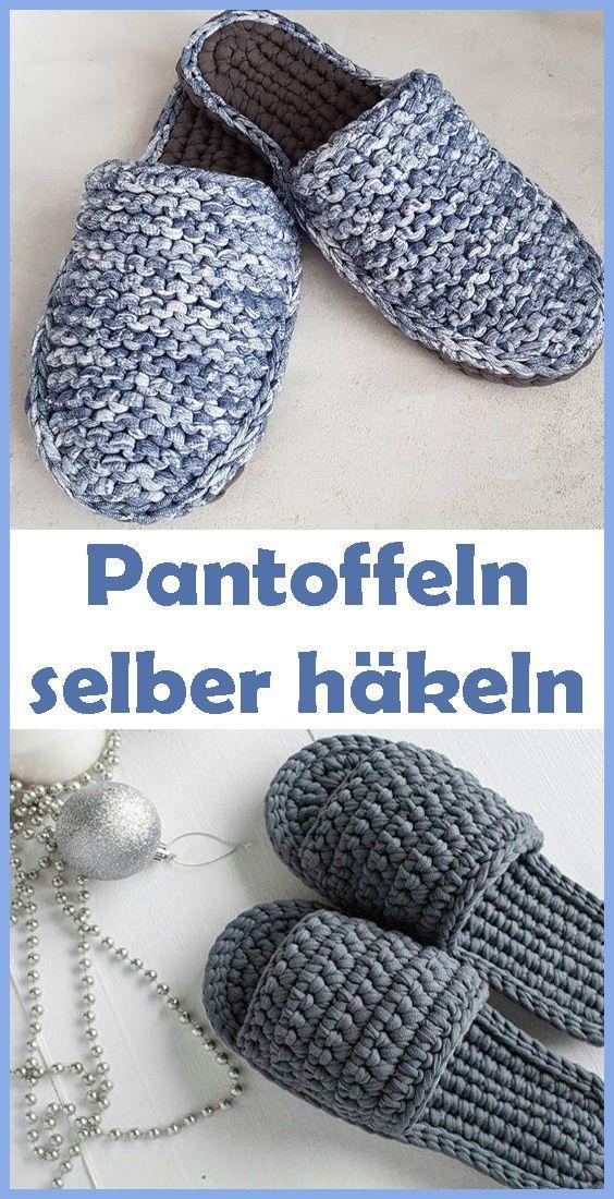 Photo of Pantoffeln häkeln – kostenlose Anleitung für Anfänger – Häkeln, Sticken & …