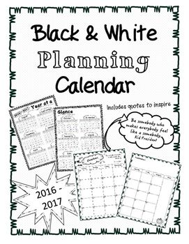 This product includes an all year calendar, as well as a