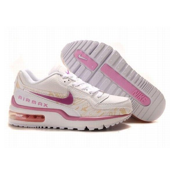 Womens Nike Air Max LTD White Pink Violet ❤ liked on Polyvore