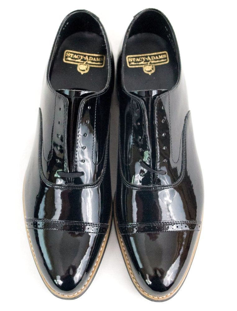 Stacy Adams Mens Tuxedo shoes Gala Black Patent Leather lace up 24998-004