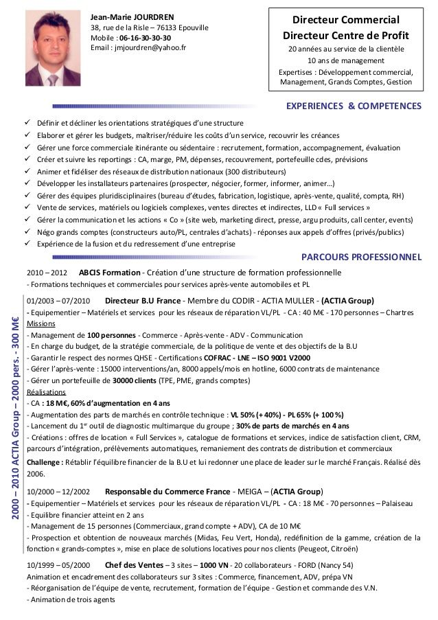 2000 2010actiagroup 2000pers 300m Experiences Competences Definir Et Decliner Les Orientations Strategiques D Un Cv Francais Exemple Cv Cv Francais Exemple