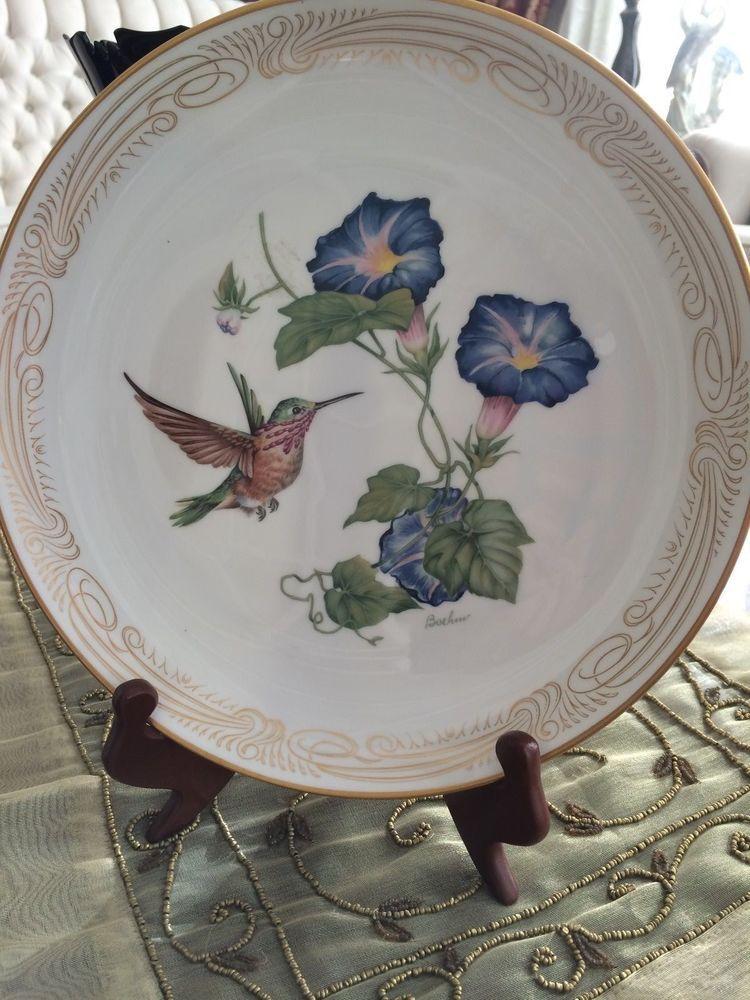The Calliope Hummingbird plate by Edward Marshall Boehm