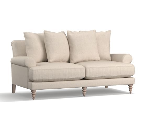 amalie upholstered sofa polyester wrapped cushions performance by cryptonr home cobblestone - Crypton Sofa