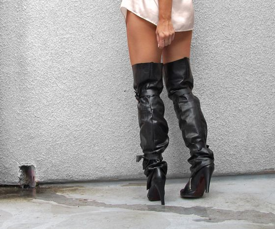 make your own knee high mens dress boots