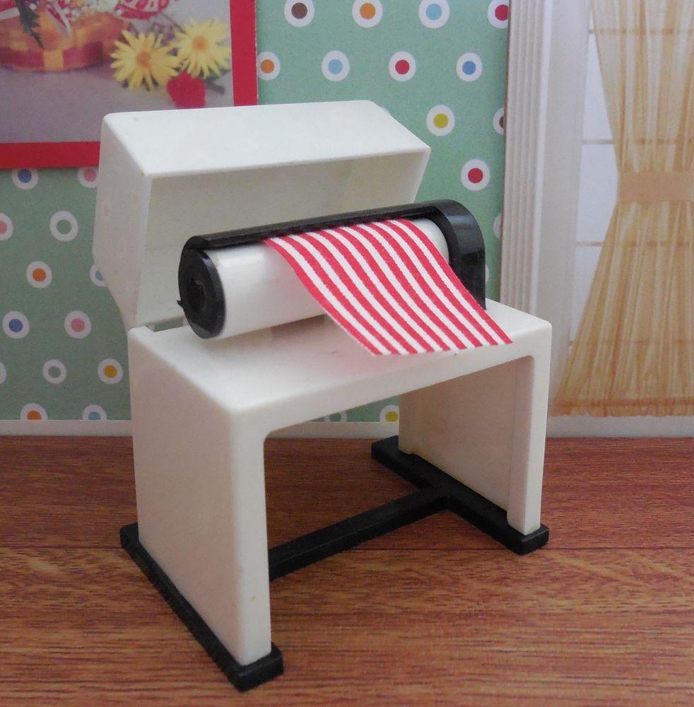 Ideal Miniature MANGLE IRON Vintage Renwal Tin Dollhouse Furniture Plastic 1 :16
