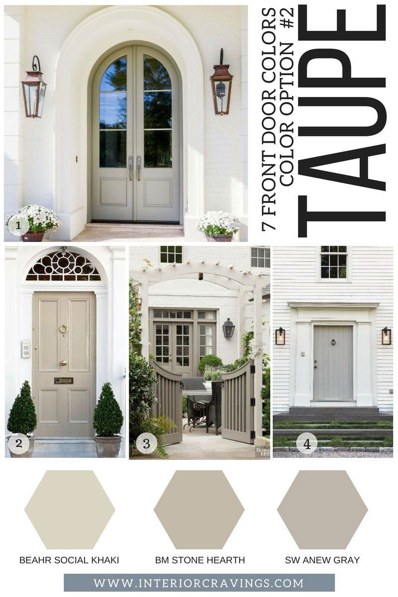 7 FRONT DOOR COLORS TO MAKE YOUR HOME STAND OUT | Pinterest