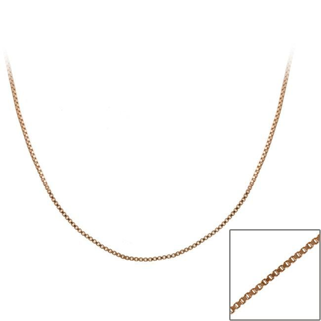 Mondevio Rose Gold over Sterling Silver 24-inch Italian Box Chain (RB15-24), Women's, Size: 24 Inch