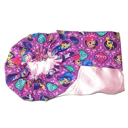 Satin Pillowcase For Hair Shimmer And Shine Satin Bonnets Pillowcases And Hair Accessories