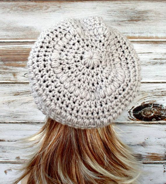 Crochet Hat Women Penelope Puff Stitch Slouchy Beanie Hat in ...