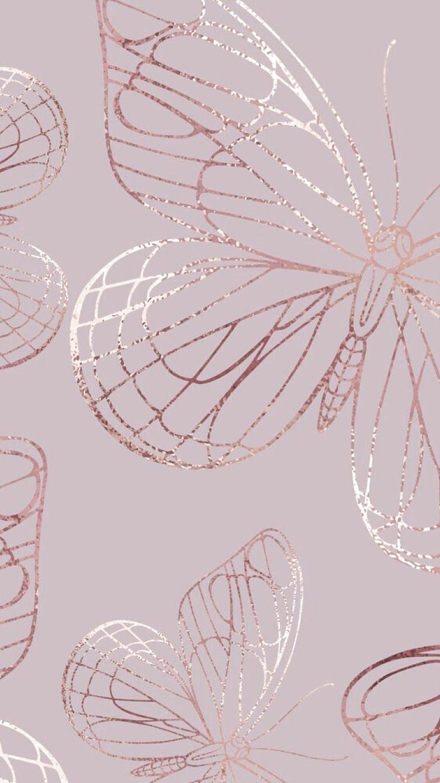 Iphone Rose Gold Aesthetic Tumblr Iphone Rose Gold Butterfly Wallpaper In 2020 Butterfly Wallpaper Iphone Flower Phone Wallpaper Butterfly Wallpaper