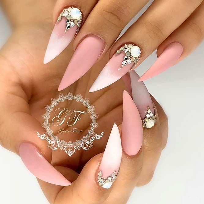 Pointy nails can look scary and dangerous if you do not know the ways to  handle them. Fear no more, we know the best designs to tame this shape! - Fantabulous Pointy Nails Designs You Would Love To Have Stiletto