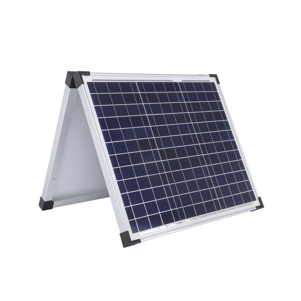 Sun Joe 60 Watt Polycrystalline Folding Solar Panel With Cable Solar Panels Best Solar Panels Solar