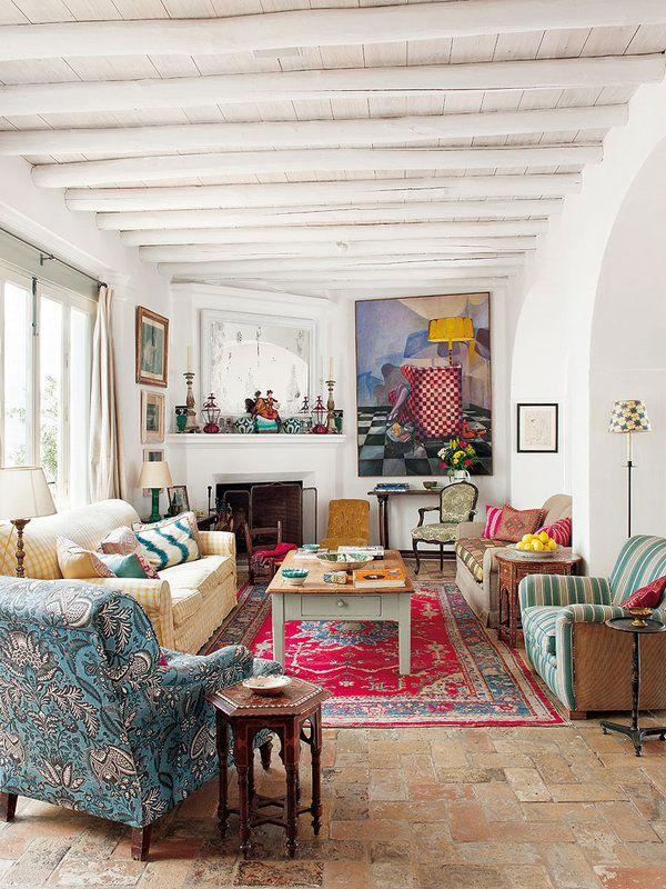 Elegant Country Family Room Decor