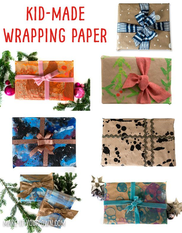 Halloween Witch Kraft Present Gift Wrap Wrapping Paper
