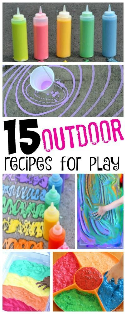 Outdoor Recipes For Play Summer Fun For Kids Summer Kids