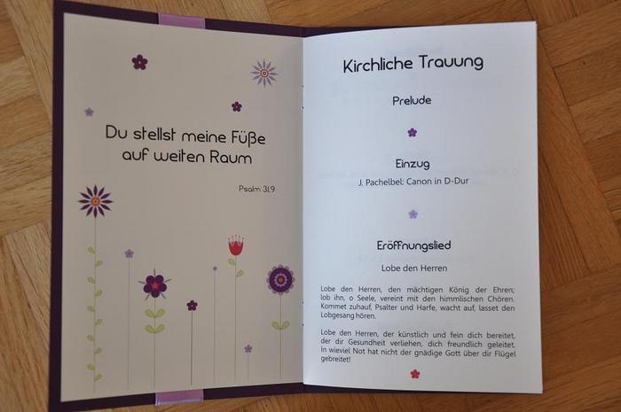 Kirchenheft Schriftart Kirchenheft Kirchliche Trauung Trauung