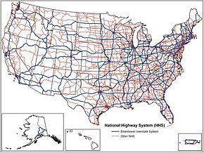 Free Free Interstate Highway Map | System map with ...