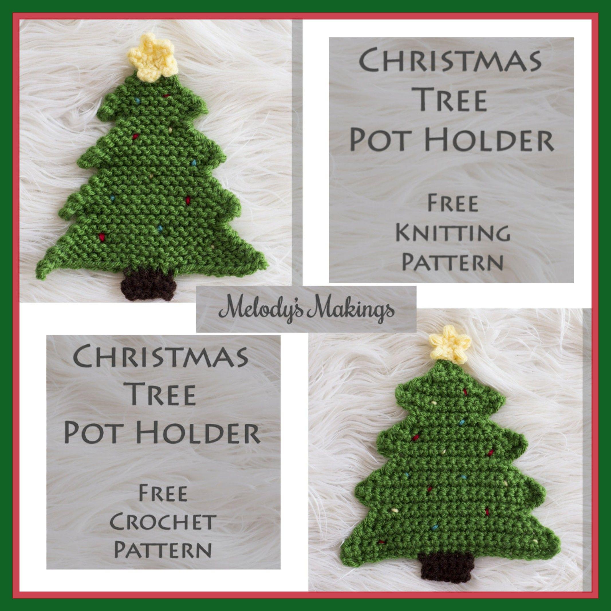 Christmas Tree Pot Holder Crochet Pattern Diy And Crafts Sewing Crochet Patterns Crochet
