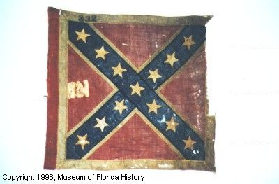 Battle Flag Of The 11th Regiment Florida Volunteer Infantry St Andrew S Cross Design Red Leading Edge Squ Civil War Flags Confederate Soldiers Battle Flag