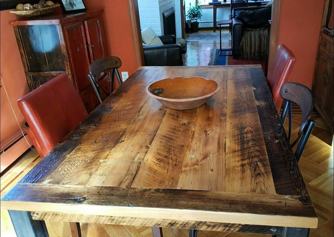 This Skip Planed Hemlock Farm Table Looks Perfectly At Home In Its New  Dining Room · Reclaimed Barn WoodFarm ...