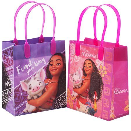 12PCS Disney Moana /& Pua Goodie bags Birthday Small Party Favor Bags Gift