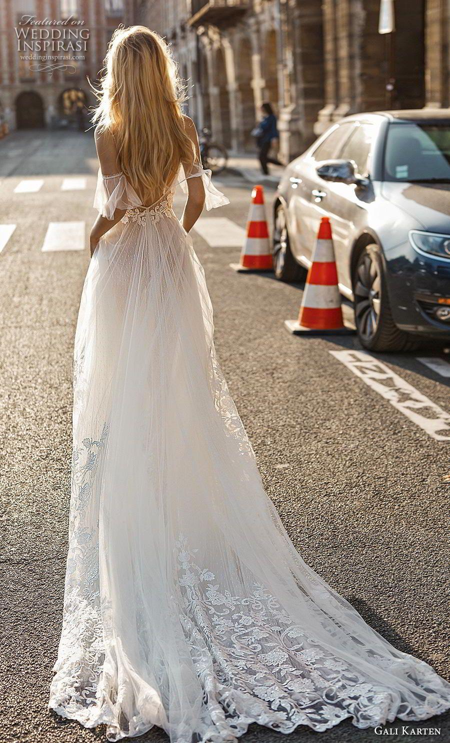 50789f28d7a2 gali karten 2019 bridal spaghetti strap cold shoulder plunging sweetheart  neckline heavily embellished bodice hem romantic boho a line wedding dress  ...