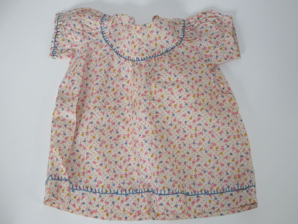 Vintage Floral Print Dress For Medium To Large Baby Dolls
