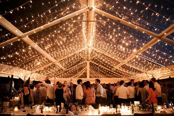 String Lights Tent Wedding : Philadelphia Wedding at Bartram s Garden Fresh flowers, Floral designs and Tents