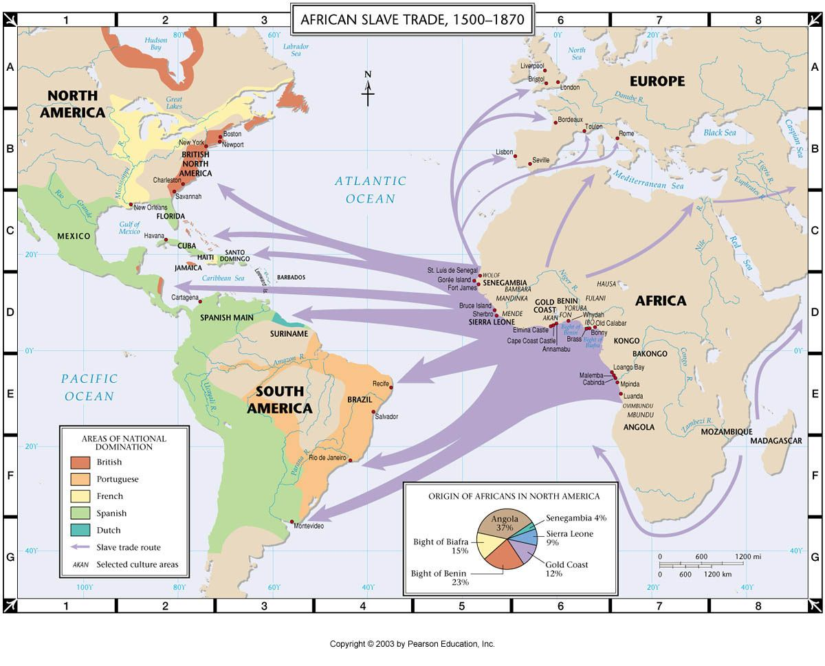 The Transatlantic Slave Trade Raw Material The European And Labor - Google map america east coast