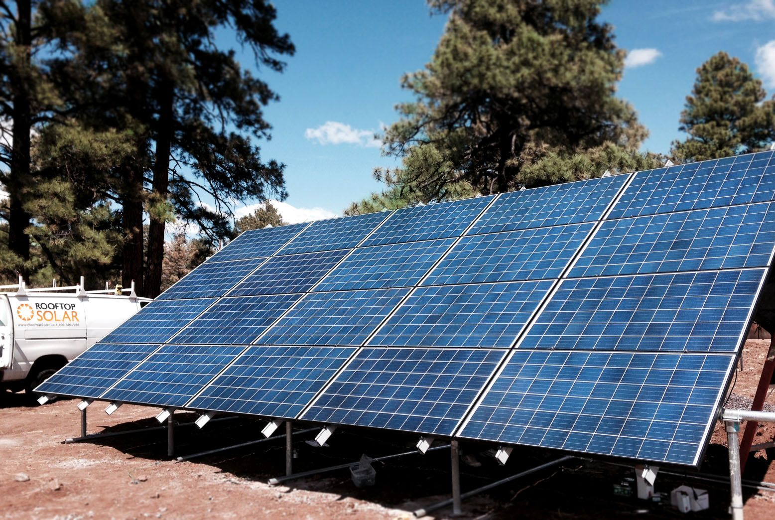Ground Mount Solar Panels Installed At Outdoors Unlimited In Flagstaff Az Rooftop Solar Groundmount Solarpanels Solar Installation Solar Installation