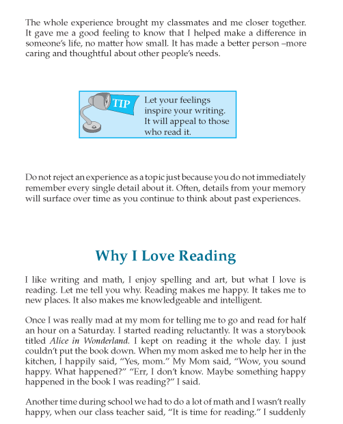 7th Grade Reflective Essay Sample English Writing Skill Grammar Book Skills Can One Person Make A Difference