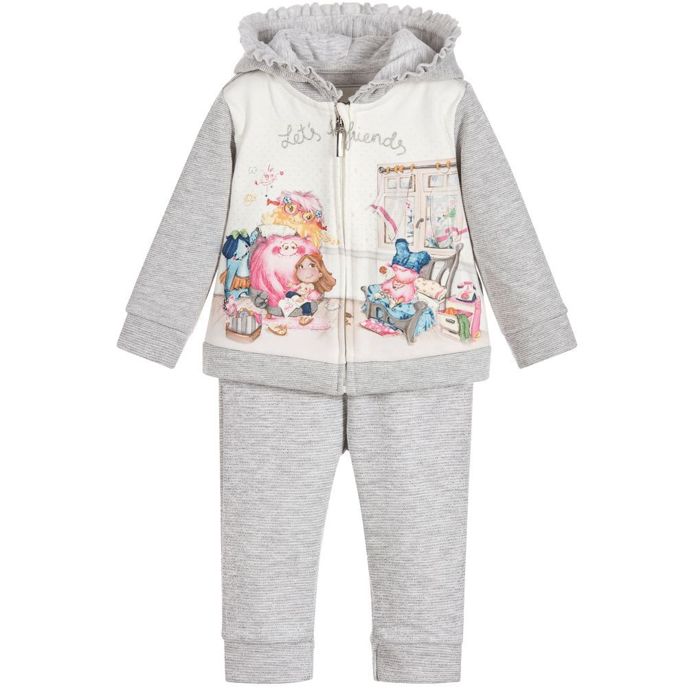 21e4a5c8deab Mayoral Chic - Girls Glittery Grey Tracksuit