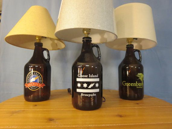 Goose Island Beer Growler Lamp Greenbush Brewery Light Midwest