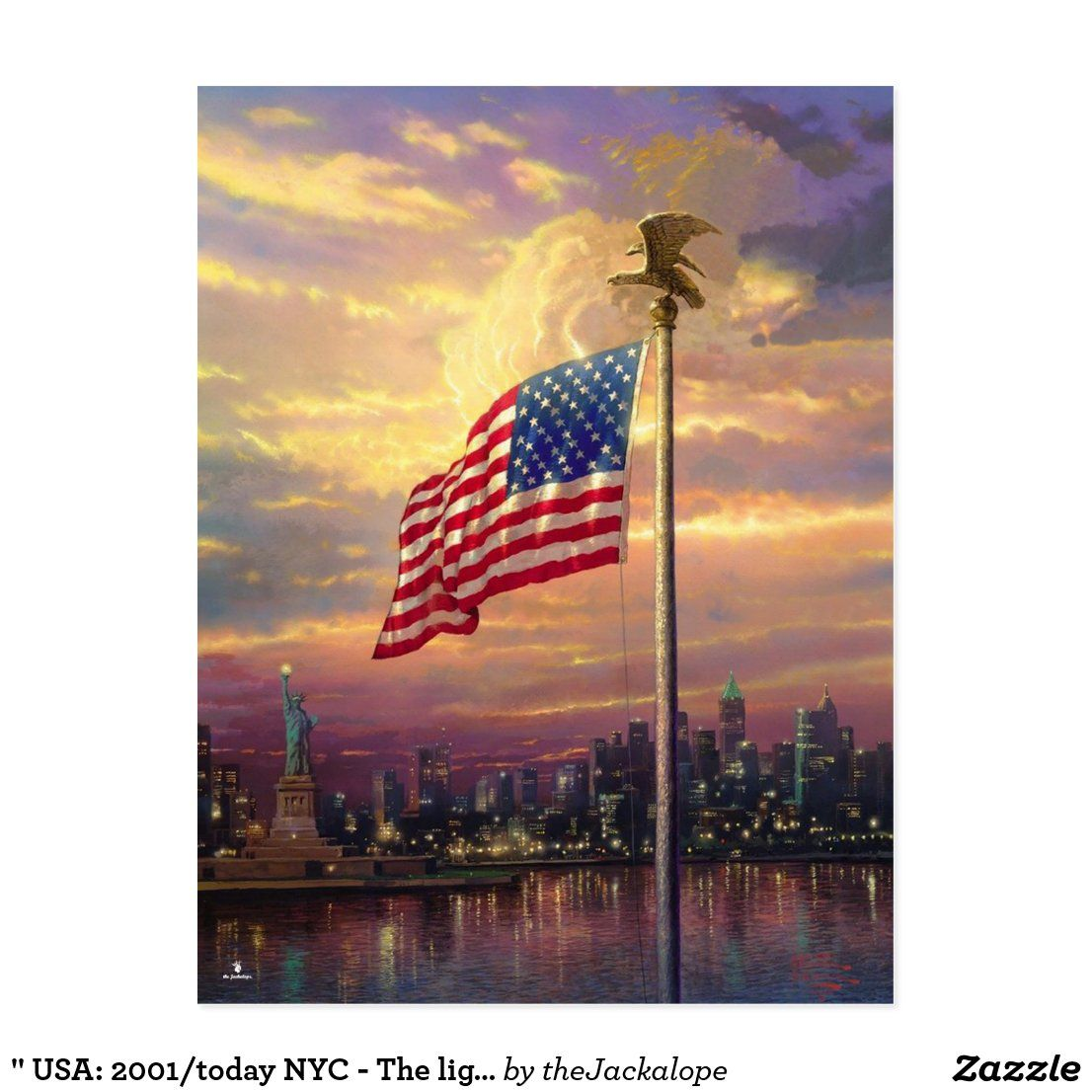 Usa 2001 Today Nyc The Light Of Freedom Postcard Zazzle Com Diamond Painting Painting Painting Frames