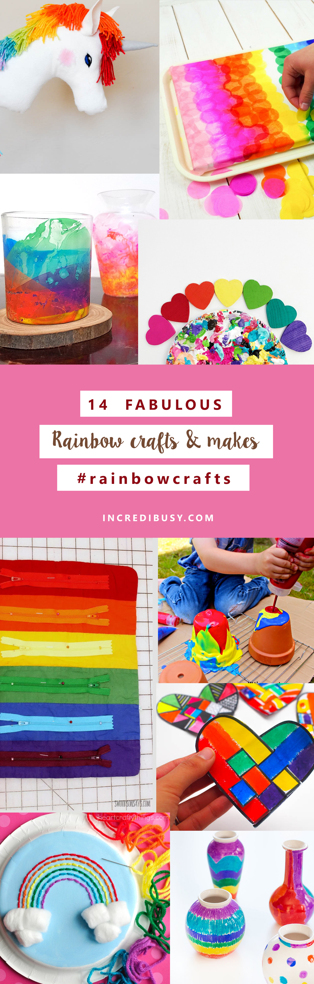 RAINBOW CRAFTS ROUND UP – #UPCYCLED, RE-PURPOSED selection of Rainbow Crafts - almost St Patrick's Day seems as good a reason as any! #eco