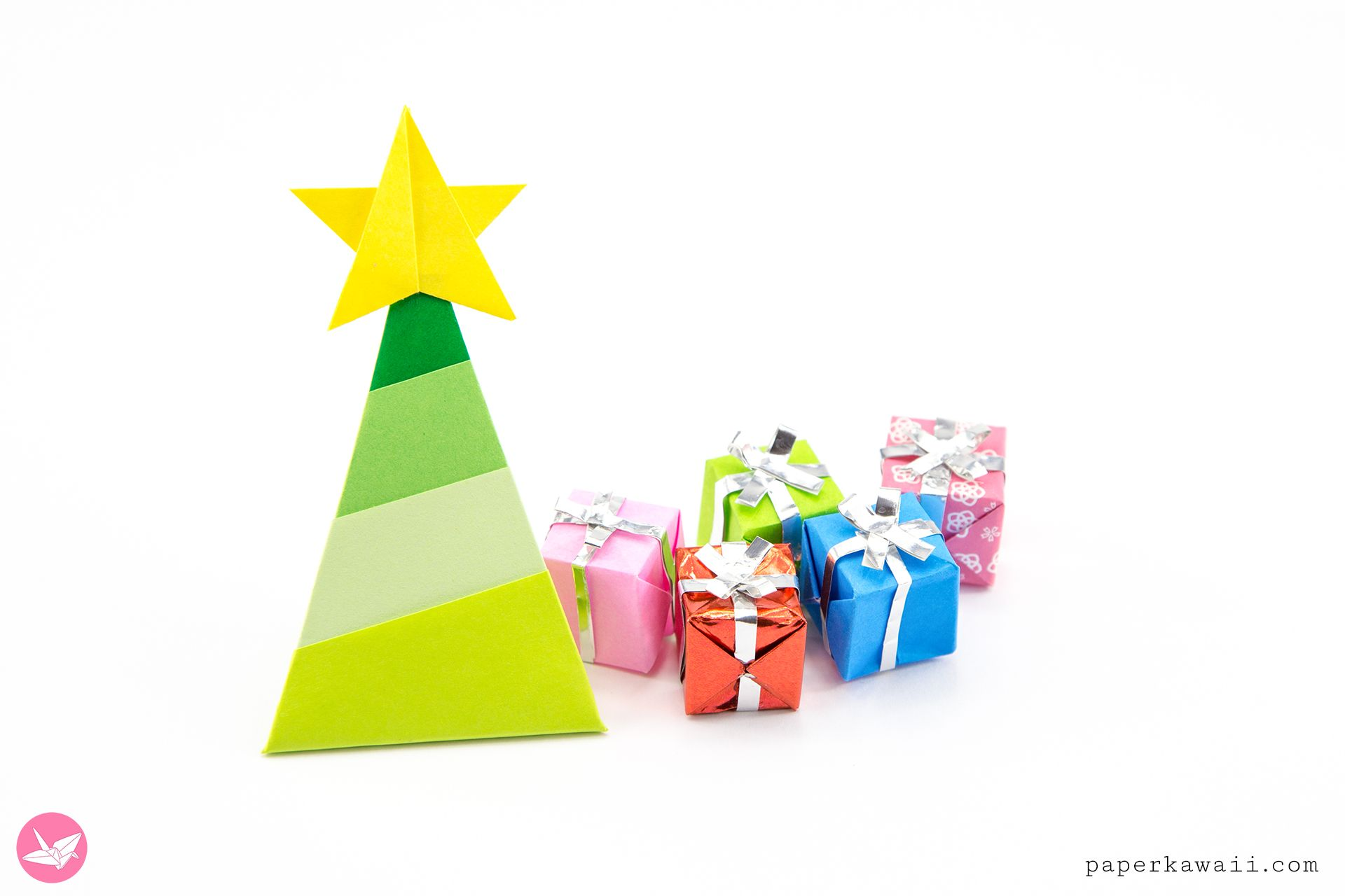 Simple Origami Christmas Tree Tutorial Zippers Pinterest Ornaments On A Star Diagram Learn How To Fold With