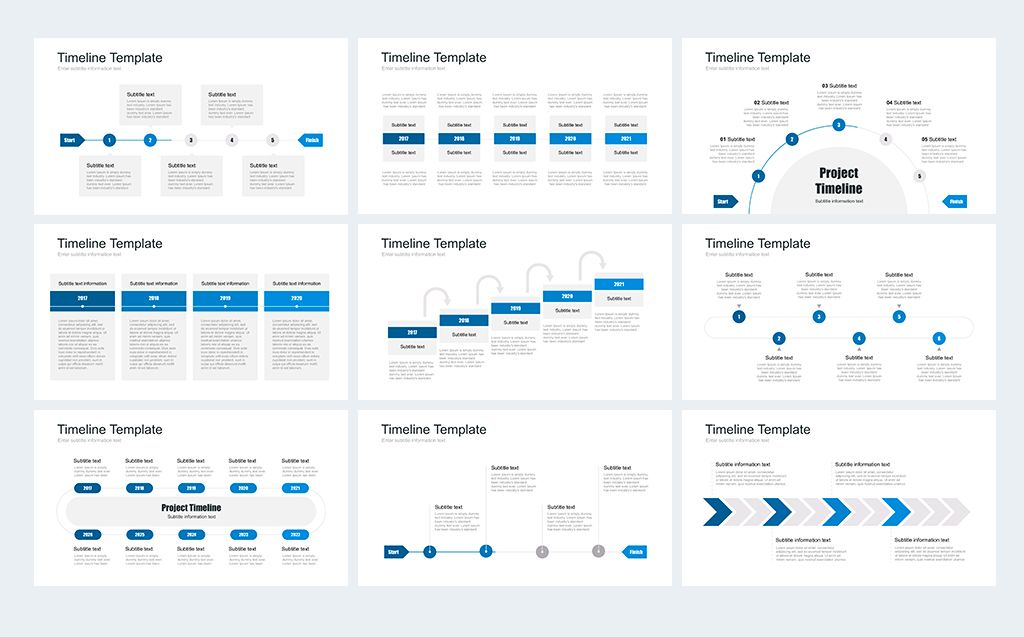 Timeline Pack for PowerPoint PowerPoint Template Website Templates