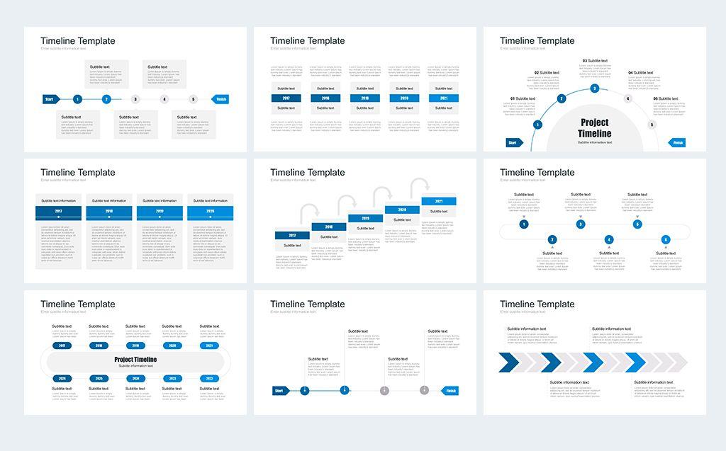 Timeline Pack for Keynote Template Illustration Artworks Fantasy